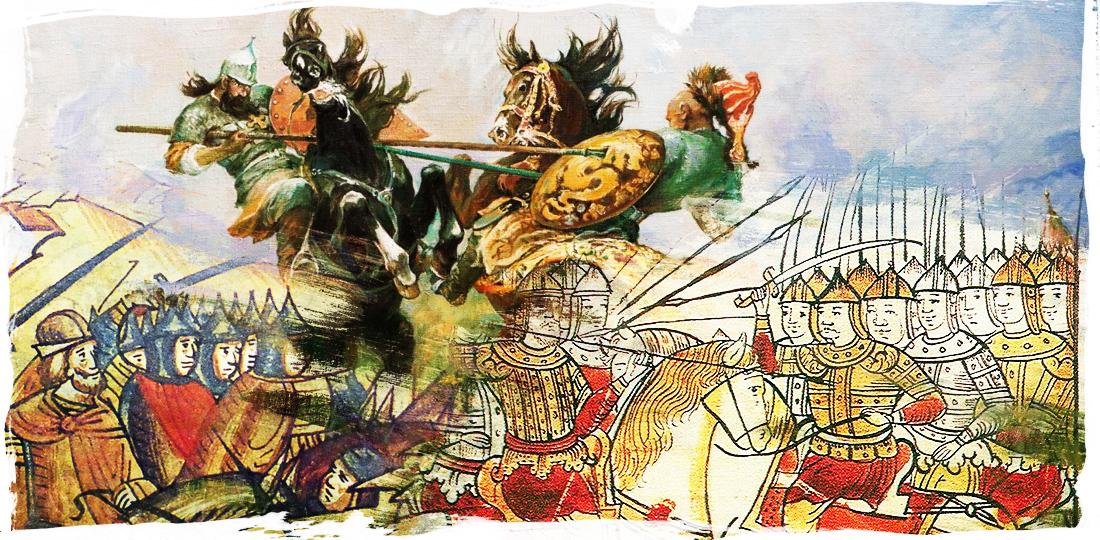Бой Челубея и Пересвета