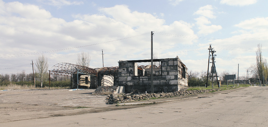 Частный сектор в окрестностях Луганска